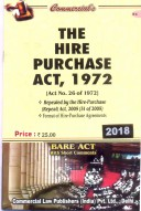 Hire-Purchase Act, 1972 alongwith Hire Purchase (Repeal) Act, 2005