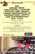 Infant Milk Substitutes, Feeding Bottles and Infant Foods (Regulation of Production, Supply and Distribution) Act, 1992 alongwith Rules, 1993