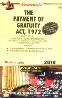 Payment of Gratuity Act, 1972 alongwith Rules, 1972 (as amended in 2018)