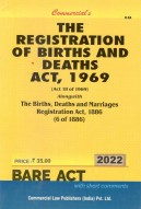 Registration of Births and Deaths Act, 1969 alongwith Births, Deaths and Marriages Registration Act, 1886