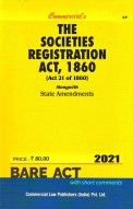 Societies Registration Act, 1860 Alongwith State Amendments