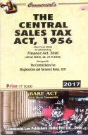 Central Sales Tax Act, 1956 with Rules (as amended by Finance Act, 2016)