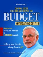 Central Excise Customs and Service Tax BUDGET  Notifications 2017-18