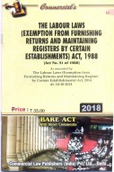 Labour Laws (Exemption from Furnishing Returns and Maintaining Registers by Certain Establishments) Act, 1988