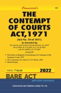 Contempt Of Courts Act, 1971 Alongwith...