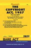 Copyright Act, 1957 alongwith Rules, 2013 and International Copyright Order, 1999 (as amended in 2013)