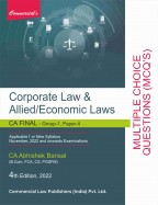 Corporate & Allied/Economic Laws (Multiple Choice Questions)