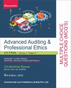 Advanced Auditing & Professional Ethics [Multiple Choice Questions (MCQ's)]
