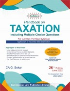 Handbook on TAXATION  Including Multiple Choice Questions