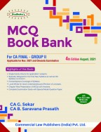 MCQ BOOK BANK  For CA Final - Group II