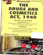 Drugs and Cosmetics Act, 1940 alongwith Drugs (Control) Act, 1950